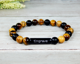 custom engraved mens bracelet handmade jewelry for men