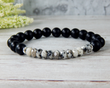 mens larvakite bracelet mens gemstone jewelry