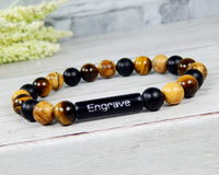 mens gemstone bracelet personalized jewelry
