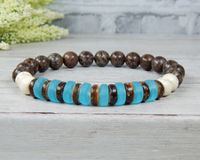 handmade beaded gemstone bracelet for men