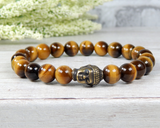 buddhist jewelry mens buddha bracelet tiger eye gemstones