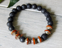 mens lava rock beaded bracelets