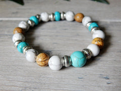 mens beaded beach bracelets