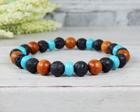 lava and wood bracelet for mens handmade jewelry
