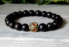 mens ebony wood bracelets