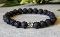 yin yang balance jewelry beaded gemstones bracelet for men