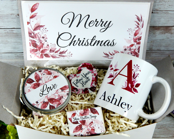 personalized christmas gift basket