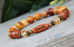 sunset orange yellow gemstone bracelet