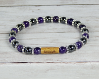amethyst gemstone bracelet message jewelry