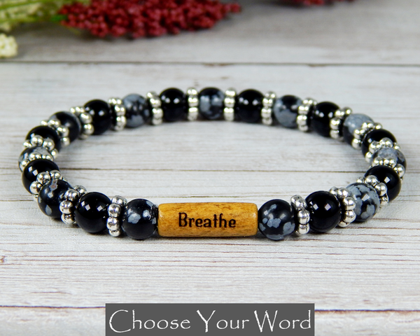 bracelet with words inspirational message jewelry