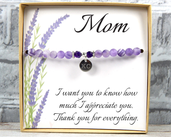 Personalized Gift for Mom - Engraved Jewelry for Mom - Mom Bracelet - Mom Daughter - Mom Birthday Gift