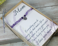 thank you gift for mom with engraved bracelet attached