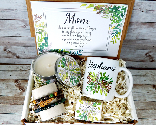 earthy mom gift nature themed birthday gift basket