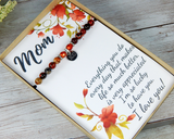 Thank You Gift for Mom with Engraved Jewelry - Mom's Birthday - Mothers Day -Just Because