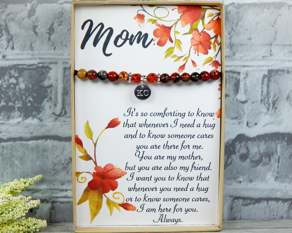 custom mom gift thank you mom engraved bracelet