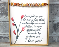 a gift for appreciation for mom mothers day jewelry card