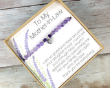 Mother In Law Jewelry - Gift for Mother In Law - Husbands Mother Jewelry - Mother-In-Law Birthday Gift - Mother-In-Law Bracelet - MIL Gift