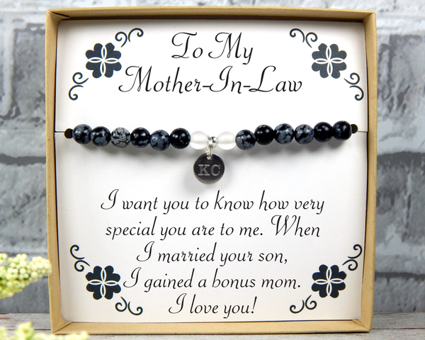Gift for Mother In Law - Husbands Mother Jewelry - Mother-In-Law Birthday Gift - Mother-In-Law Bracelet - MIL Gift