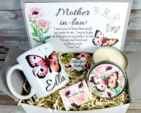 butterfly themed mother in law gift basket for mothers day