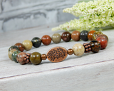 river jasper gemstone bracelet natural jewelry for women