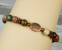 natural gemstone jewelry for women tree of life bracelet