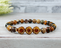 earthy jewelry for mom boho bracelet for mama