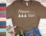 nature girl t-shirt gift for nature lover women