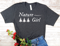 black nature girl t-shirt gift for nature lover women
