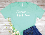 mint green nature girl t-shirt gift for nature lover women