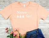peach nature girl t-shirt gift for nature lover women