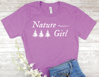 purple nature girl t-shirt gift for nature lover women