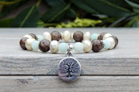 nature bracelet with tree charm gemstone jewelry
