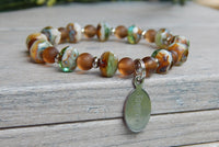 personalized jewelry earthy bracelet brown green