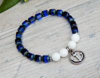 nautical bracelet with anchor charm