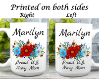 Personalized Navy Mom Mug - Navy Mom Gifts - Military Mugs for Moms
