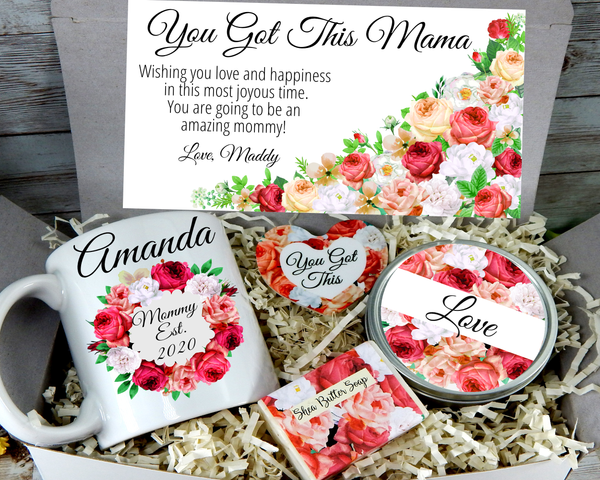 new mommy est 2020 gift box for her in pink