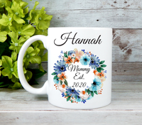 mommy est 2020 personalized coffee mug
