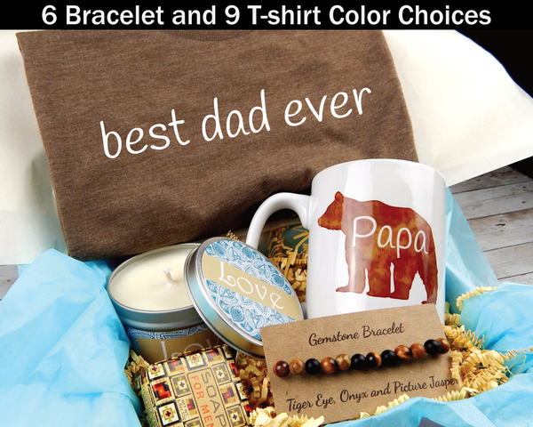 Best Dad Ever Gift Box - Papa Bear Gifts - Gift Basket For Dad