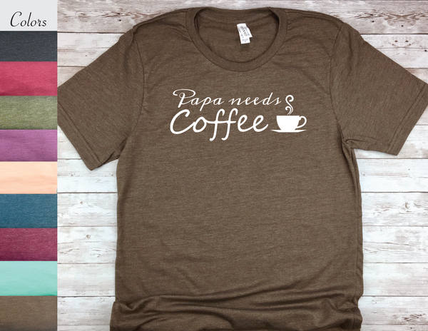new father gift papa needs coffee new dad shirt
