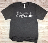 black new father gift papa needs coffee new dad shirt