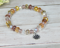 gift for daughters birthday flower jewelry crystal bracelet