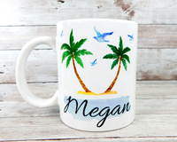 personalized beach mug