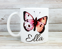 personalized butterfly mug