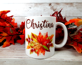 personalized fall mug
