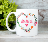 personalized heart mug for encouragement