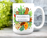 custom name mug for cook or baker name's kitchen