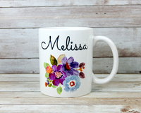 personalized flower mug