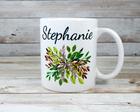 personalized nature mug