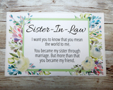 Sister In Law Birthday Gift - Meaningful Gift for Sister-In-Law