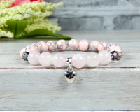 pink breast cancer survivor bracelet for women